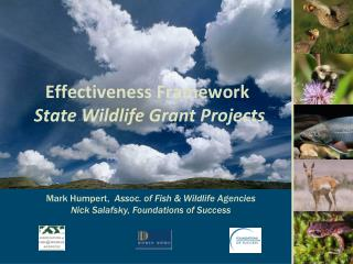 Effectiveness Framework State Wildlife Grant Projects