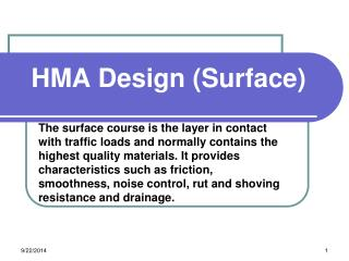 HMA Design (Surface)