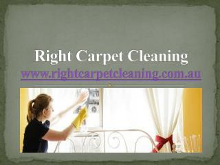 Right Carpet Cleaners Company