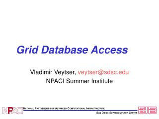 Grid Database Access