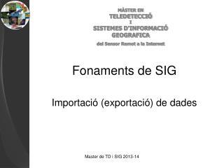 Fonaments de SIG