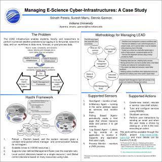 Managing  E-Science  Cyber-Infrastructures:  A Case  Study