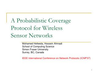 A Probabilistic Coverage Protocol for Wireless Sensor Networks