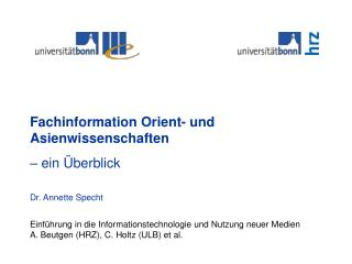 Einführung in die Informationstechnologie und Nutzung neuer Medien