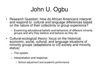 John U. Ogbu