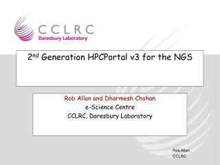 2 nd  Generation HPCPortal v3 for the NGS