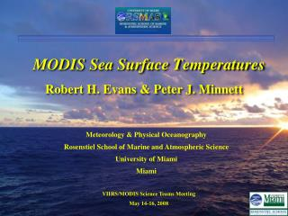MODIS Sea Surface Temperatures