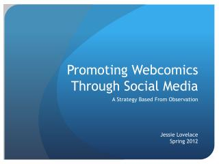 Promoting Webcomics Through Social Media