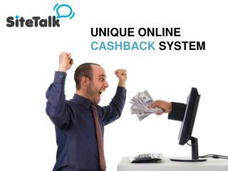 UNIQUE ONLINE  CASHBACK  SYSTEM