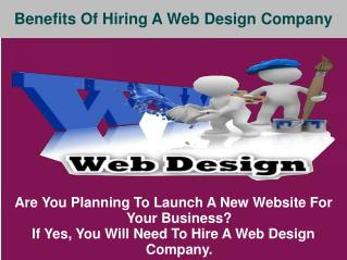 Benefits of Hiring a Web Design Company