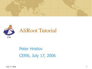 AliRoot Tutorial