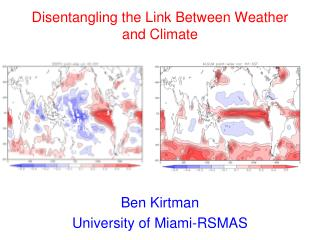 Disentangling the Link Between Weather and Climate