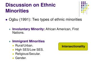 Discussion on Ethnic Minorities
