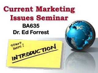 Current Marketing  Issues Seminar