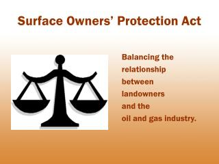 Surface Owners' Protection Act