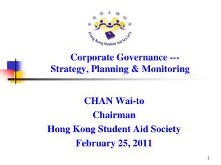 Corporate Governance ---            Strategy, Planning & Monitoring