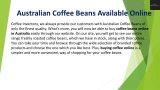 Buy Coffee Beans Online Queensland