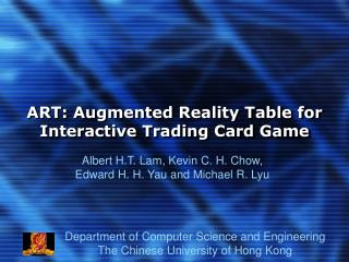 ART: Augmented Reality Table for Interactive Trading Card Game