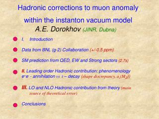 Hadronic corrections to muon anomaly within the instanton vacuum model