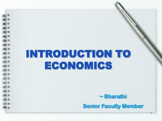 INTRODUCTION TO ECONOMICS