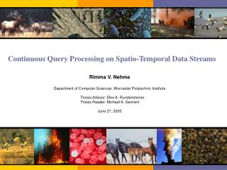 Continuous Query Processing on Spatio-Temporal Data Streams