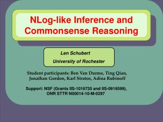 NLog-like Inference and Commonsense Reasoning