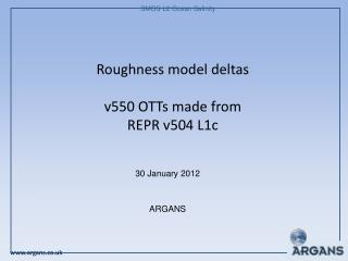 Roughness model deltas v550 OTTs made from REPR v504 L1c