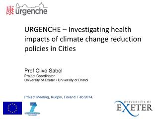 URGENCHE  – Investigating health impacts of climate change reduction policies in Cities
