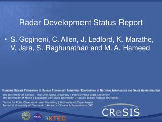 Radar Development Status Report