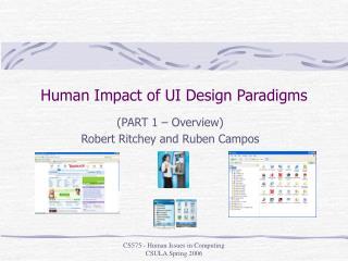 Human Impact of UI Design Paradigms