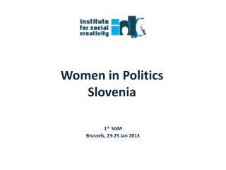 Women in Politics Slovenia