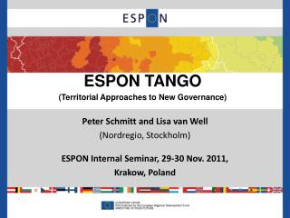 ESPON TANGO  (Territorial Approaches to New Governance)