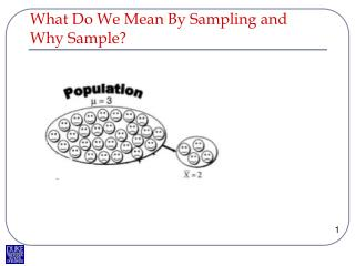 What Do We Mean By Sampling and Why Sample?