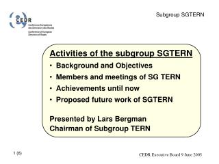 Subgroup SGTERN