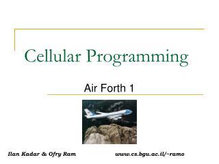 Cellular Programming
