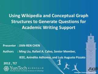 Using Wikipedia and Conceptual Graph Structures to Generate Questions for Academic Writing Support