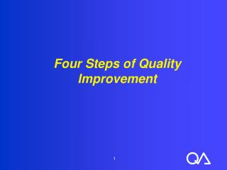 Four Steps of Quality Improvement