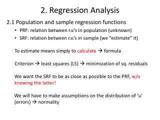 2.  Regression  Analysis