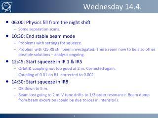 Wednesday 14.4.