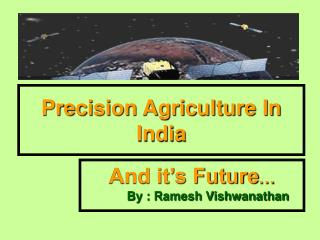 Precision Agriculture In India