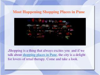Which are the famous places to shop in pune