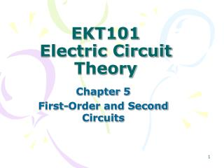 EKT101 Electric Circuit Theory