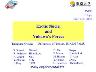 Exotic Nuclei and Yukawa's Forces