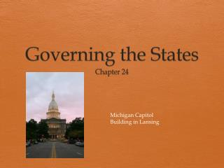 Governing the States