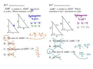 #17   PA8 Sem2 Practice Exam A