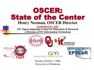 OSCER: State of the Center