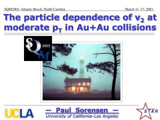 The particle dependence of v 2  at moderate p T  in Au+Au collisions