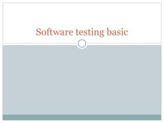 Software testing basic