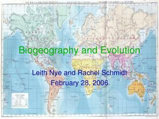 Biogeography and Evolution