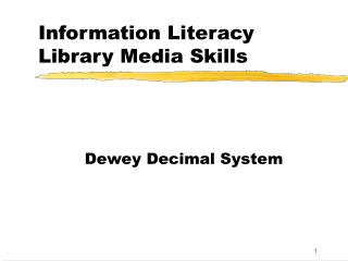 Information Literacy Library Media Skills